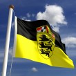 Baden-Wurttemberg flag Germany — Stock Photo