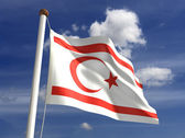 North Cyprus Flag — Stock Photo