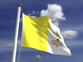 Vatican flag — Stock Photo