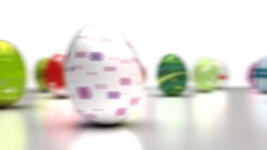 Easter Eggs Dancing — Stock Video
