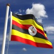 Stock Photo: UgandFlag