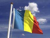 乍得国旗 — 图库照片
