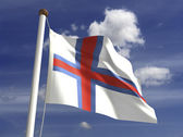 Faroe Islands Flag — Stock Photo