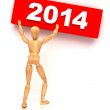 Stock Photo: New Year 2014 Sign