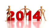 2014 New Years Team — Stock Photo