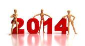 2014 New Years Team — Stock Photo