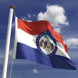 Missouri Flag — Stock Photo