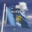 Wisconsin Flag — Stock Photo #27443053