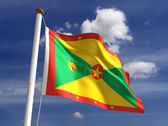 Grenada Flag — Stock Photo