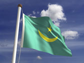 Mauritania Flag — Stock Photo