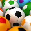 Colorful Soccer Balls — Stock Photo #28904847