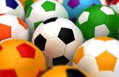 カラフルなサッカー ボール — ストック写真