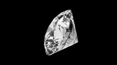 Round Cut Diamond — Stock Video