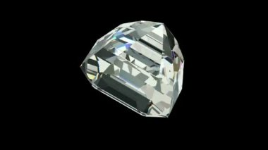 Asscher cut diamond — Stock Video