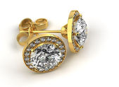 Diamond Earrings — Stock Photo