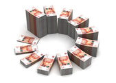 Ruble Chart — Stock Photo