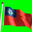 Myanmar flag — Stock Video