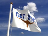 Fort Worth City Flag — Stock Photo