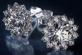 Diamantové náušnice — Stock fotografie