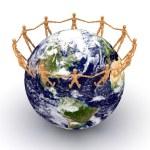 over de hele wereld — Stockfoto