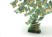 Flying Australian Dollar — Stock Photo