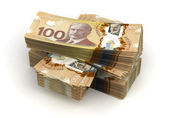 Stack of Canadian Dollar — Stock Photo