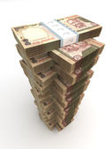 Tower of Indian Rupee — Stock Photo