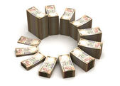 Indian Rupee Chart — Stock Photo