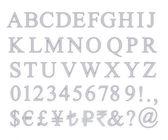 Zestaw metalowych list — Zdjęcie stockowe
