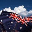 Waving Australian Flags — Stock Video