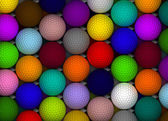 Colorful Golf Balls — Stock Photo