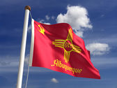 Albuquerque City Flag — Stock Photo