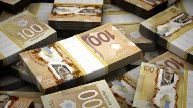 Billion Canadian Dollar Background — Stock Video
