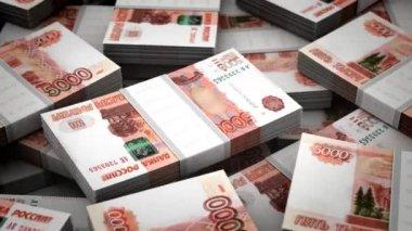 Billion Rubles Background — Stock Video