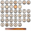 Typewriter alphabet — Stock Photo #13968256