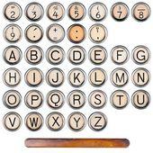 Alphabet de la machine à écrire — Photo