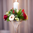 Wedding table decoration — Stock Photo