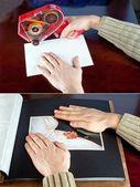 粘贴到相册的照片 — 图库照片