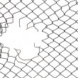 Mesh wire hole - Stock Photo
