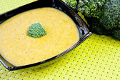 Broccoli cream soup — Stockfoto