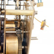 Stock Photo: Old clock pinion mechanism