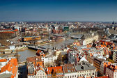 Odra river in Wroclaw — Stock Photo