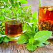 Herbal vodka — Stock Photo #30084899