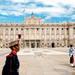 Guard of Royal Palace of Madrid — Stock Photo