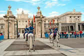 Changing of the Guard - Royal Palace of Madrid — Stock Photo