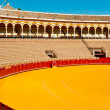Stock Photo: Bull fight arena