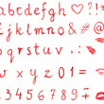 Lipstick alphabet — Stock Photo