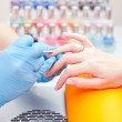 Making manicure — Stock Photo