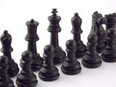 Black chess team — Stock Photo