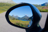 Mountains in the mirror — Stock Photo